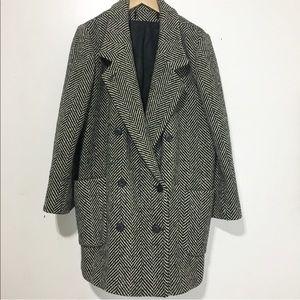 Vintage / tweed thick coat